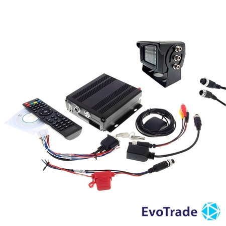 Комплект видеонаблюдения на транспорт EvoVizion avtokit-1