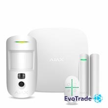 Изображение Ajax StarterKit Cam White Комплект беспроводной сигнализации